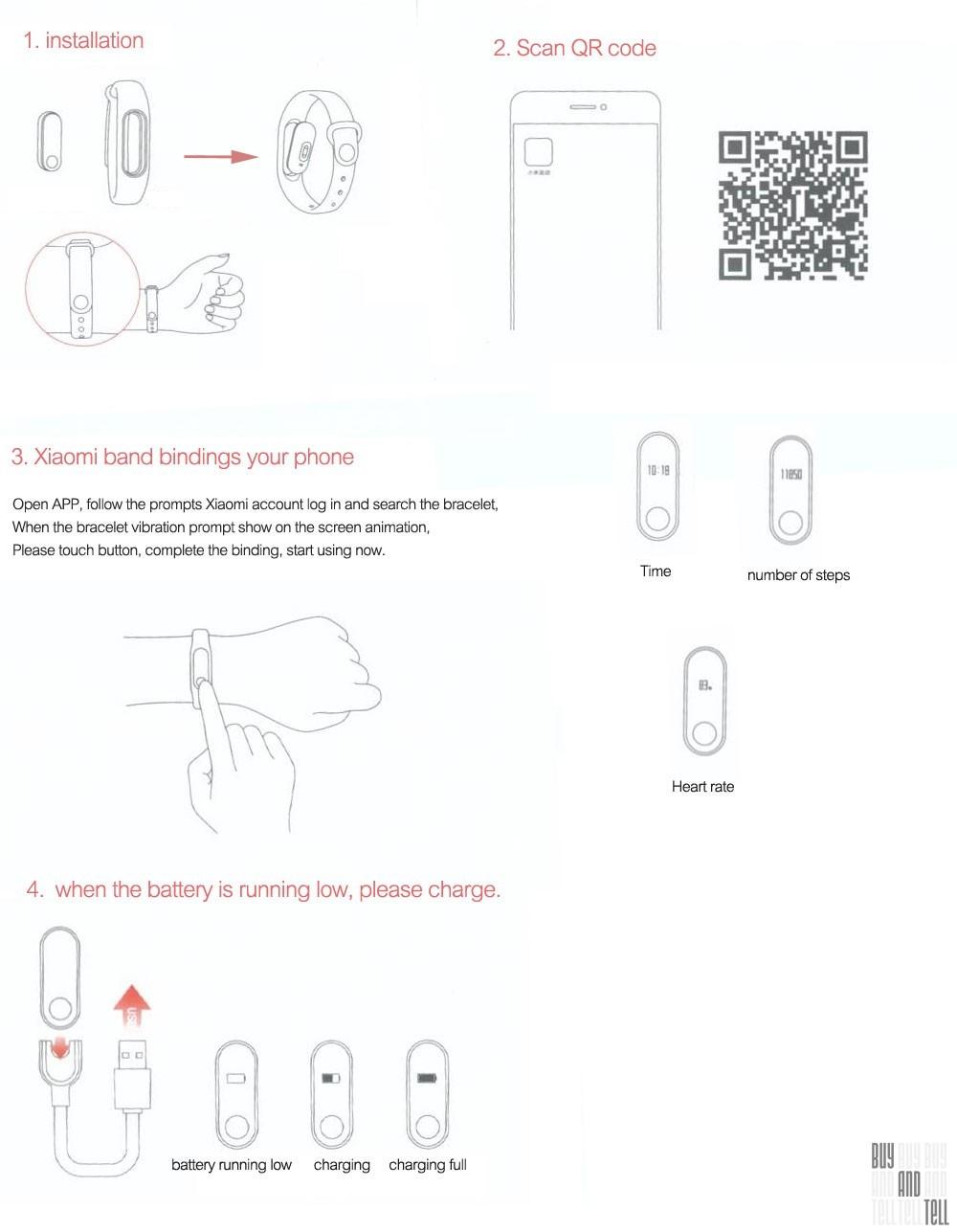 Xiaomi mi band 2 инструкция