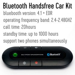 Характеристики Bluetooth Handsfree Car Kit: