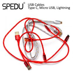 Недорогие кабели SPEDU USB Type C, Micro USB, Lightning