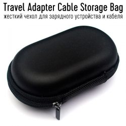 Travel Adapter Cable Storage Bag