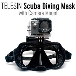 TELESIN Scuba Diving Mask