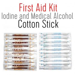 First Aid Kit Iodine and Medical Alcohol Cotton Stick