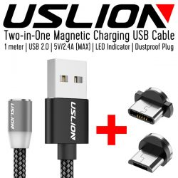 USLION Magnetic Charging USB Cable
