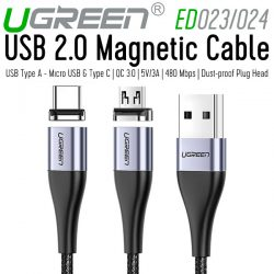 Ugreen Magnetic Cable (Micro USB & Type C)