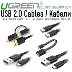 Ugreen USB 2.0 Cables - Кабели