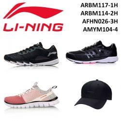 Три пары кроссовок и бейсболка Li-Ning